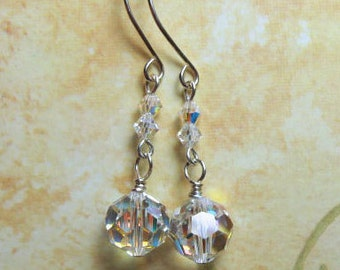 Swarovski Crystal Earrings, Crystal Bridal Wedding Jewelry, Special Occasion Earrings, Sparkling Celebration Jewelry, Best Gift for Her