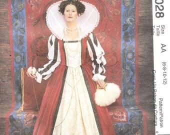 McCall's 4028 Misses' Elizabethan Costume Pattern, 6-12
