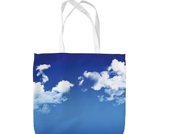 Sky & Clouds Design Tote Bag Shopping Bag Beach Bag School Bag