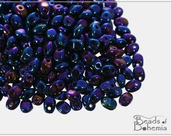 20 g Metallic Iris Blue Czech Preciosa SOLO Beads 2,5x5 mm (9023)