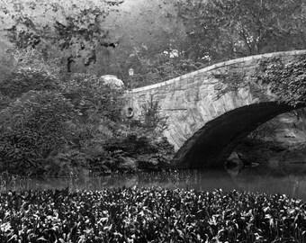 Central Park Photo - Gapstow Bridge Print, New York City Photography, Wall Art, Black and White