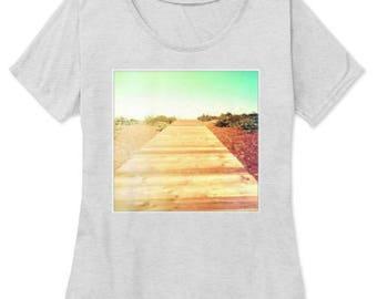 Beach Boardwalk Womens T-Shirt