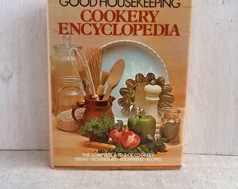 Good Housekeeping Cookery encyclopedia Vintage cookbook Recipe cook book Cuisine Cookery food meals Kitchen book library
