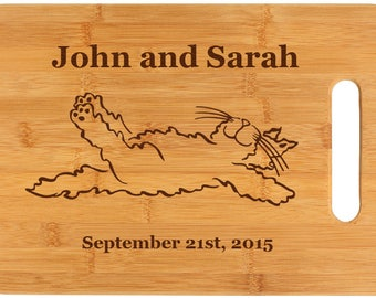 Personalized Bamboo Cutting Board - Cat Designs