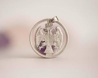 Serbia Cut Coin Necklace. 20 Para, 1883-1917.