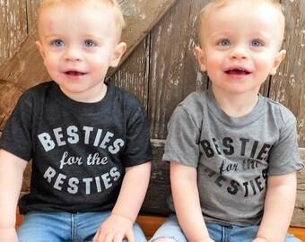 Besties tee, graphic tee, besties for the resties, hipster kid, besties shirt