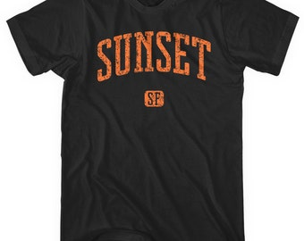 Sunset San Francisco T-shirt - Men and Unisex - XS S M L XL 2x 3x 4x - Gift, Sunset District Shirt, Neighborhood Shirt, 415, Bay Area, SFO
