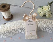 Luxury Ivory Personalised Lace Wedding Hanger