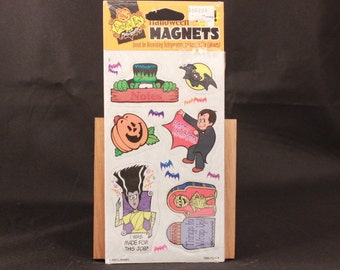 Vintage Mello Smello Frightful Fun. 6 Halloween Magnets. Sealed