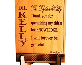 College Professor Gift - Gifts for Teacher from Student - Mentor Teacher Gift - Plaque
