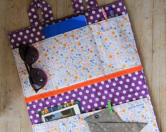 Object holder, wall-mounted objects, home organizer, bathroom organizer, kitchen organizer, gift idea women, fantasy polka dots and flowers
