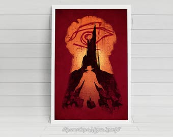 "He Followed - ""The Dark Tower"" -  11x17 signed poster"