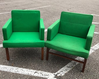Mid-Century Domore Green Wood Chairs
