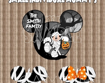New Thicker Magnets! Disney Cruise Line Halloween Mickey mouse Mummy Porthole Stateroom Door Magnet Buy 3 small heads get 1 free!!!
