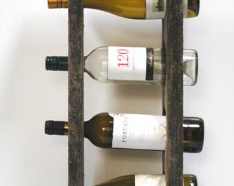Reclaimed Wood 4-Bottle Wine Rack