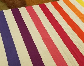Semi Custom Weighted Blanket - Size EXTRA LARGE - You choose weight - Rainbow
