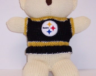 Bear, Pittsburg Steelers Cheerleader Bear, Baby Girl Bear, Baby Shower Gift, Birthday Gift, Keepsake Bear