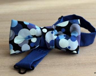 Mini bow 8. Popera. Pajarita para niño o bebé hecha a mano con tela de algodón de gran calidad.