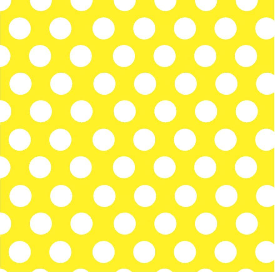 Yellow With White Polka Dots Craft Vinyl Sheet Htv Or
