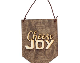 Choose Joy - Gift for Her - I Choose You - Sign Choose Joy - Encouragement - Inspirational Decor - Always Choose Joy - Rustic Wood Sign