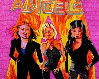 Charlie's Angels Art Print