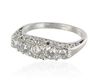 Bague or blanc diamants jarretière