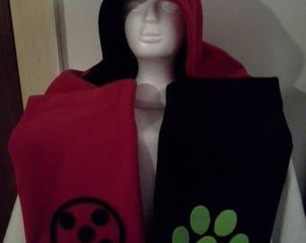 Ladybug & Chat Noir hooded scarf
