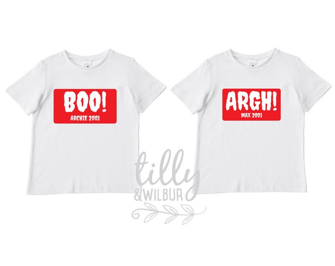 Halloween T-Shirt Set For Twins