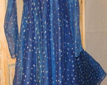 Silk Indigo Dress