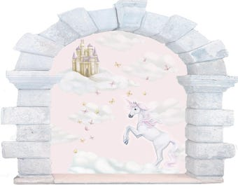 Unicorn Decals, unicorn wall decals, Unicorn Wall Stickers, Fairytale Decals, Unicorn Mural, unicorn wall mural, window decals, girls decals