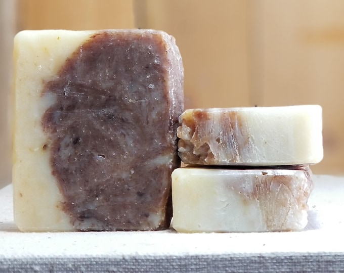 The TAO of Soap (Orange Chocolate) --  All Natural Soap, Handmade Soap, Barely Scented Soap, Hot Process Soap, Vegetarian Soap