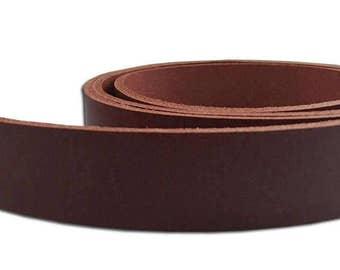 """Brown Veg Tan Leather Belt Blank Strips/Straps - 8-9 oz - 50"""" Long"""