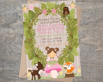 Woodland Fairy Printable Invitation | Enchanted Forest Pixies