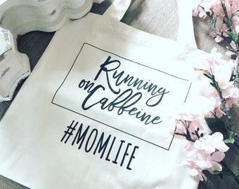 Coffee Tote Bag, Mom Tote, Reusable Tote Bag, Reusable Tote Bag, Market Bag, Canvas Tote Bag, Gift for Mom