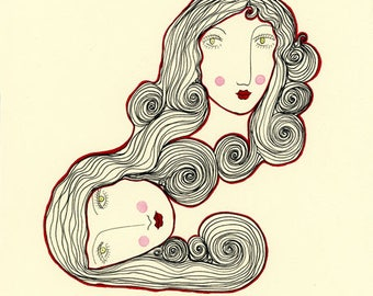Blood Bonds-Art Print, Blood Bonds, Sisters, Connected, Connections