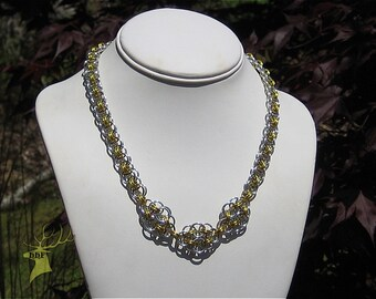 Handcrafted Chain Maille Celtic 3 Knot Helm Chain Necklace by Mary (JN0044) Free Ship in US