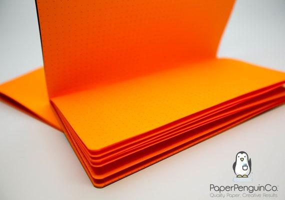 Midori Insert Orange Travelers Notebook Black Brown Regular Wide B6 Personal A6 Pocket Field Notes Passport/Grid Dots Lined/Bullet Journal