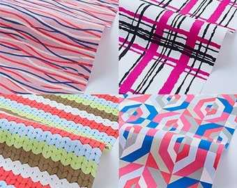 On sale Assorted Pink Colorful Fabric  Bundle  H30cmxW50cm Cut x 7    collabocca Re:1960 TK-11-1