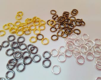 5mm Open Jump Rings x 100 Silver Plated, Bronze, Gold, Gunmetal or Mixed Colours Jumpring Chainmaille Jewelry Findings Supplies