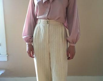 Vintage white linen suit