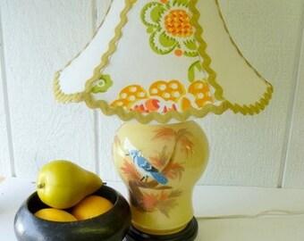 Cheery Little UPCYCLED BIRD LAMP