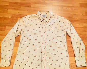 Lucky Brand Floral Print oxford button down