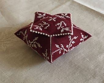 Claret Pagoda Pincushion - PDF File for instant download