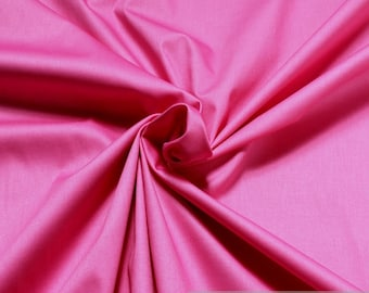 Fabric cotton elastane satin hot pink noble