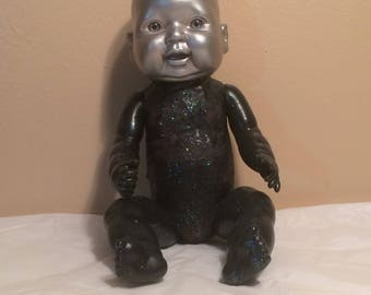 OOAK Cosmos Doll Repurpose Upcycle Home Decor