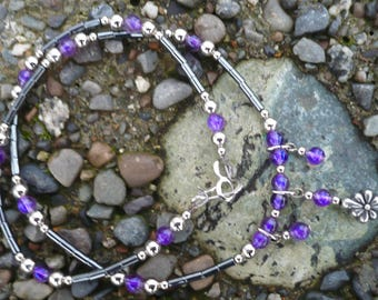Amethyst and Hematite Necklace