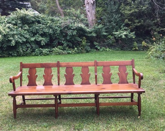 Vintage Deacons bench | leopold stickley | cherry Valley | 1930s