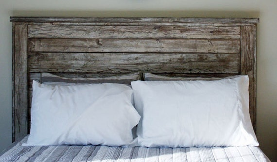 Farmhouse King Headboard White Distressed By Foo Foo La La