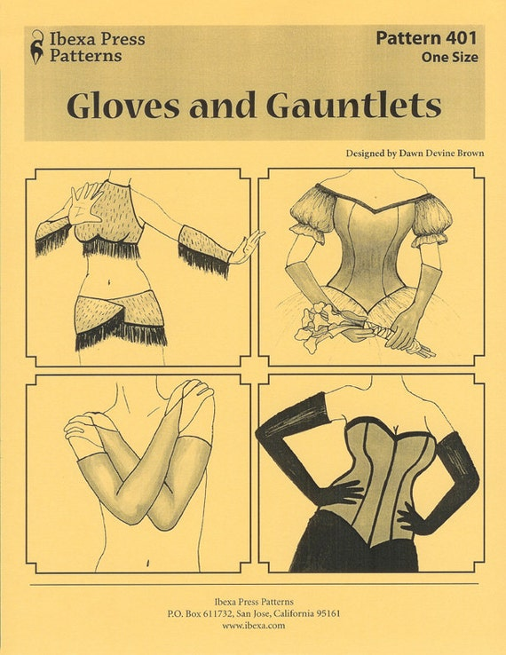 Gloves and Gauntlets sewing pattern by Dawn Devine aka Davina - For ...