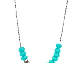 Sea crystals necklace gold or silver plated
